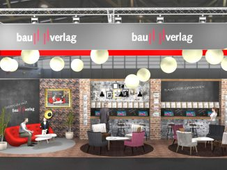 Bau2019 Messestand Bauverlag Media Lounge